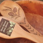 DIY Wood-Burned Salad Servers