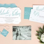 Signature Script Wedding Stationery from Evermine {www.evermine.com}