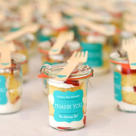 Miniature Strawberry Shortcake Favors