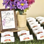 DIY Place Card Escort Table
