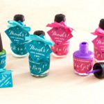 Nail Polish Gender Reveal Favors | The Evermine Blog | www.evermine.com