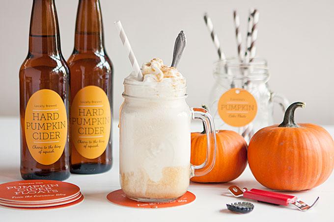 Pumpkin Cider Floats | Evermine Blog | www.evermine.com