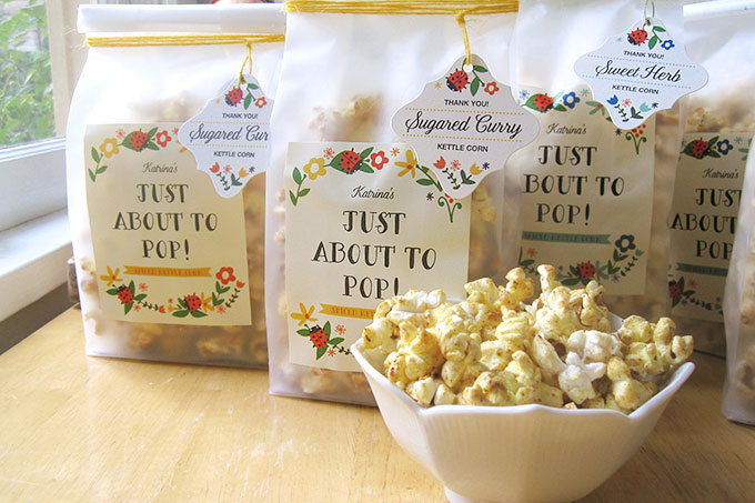 Baby Shower Gift Idea: Spiced Kettle Corn | Evermine Blog | www.evermine.com