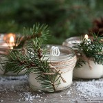 DIY Pinecone Scented Soy Candles | Evermine Blog | www.evermine.com #holiday #christmas #diygifts
