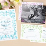Garden Romance Wedding Stationery for a Spring Wedding | Evermine Blog | www.evermine.com