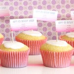 Pretty Pink Birthday Cupcakes | Evermine Blog | www.evermine.com