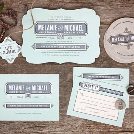 Neue Retro Wedding Stationery and Accessories | Evermine Blog | www.evermine.com