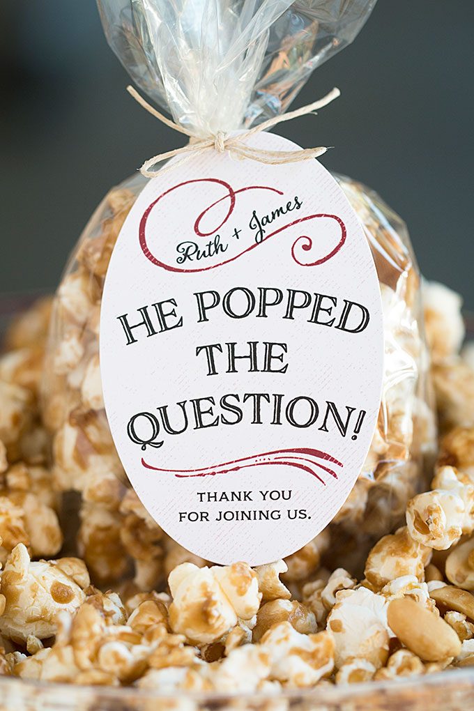 Wedding Favor Friday Caramel Corn Wedding Inspiration