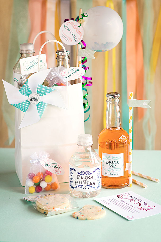 Whimsical Wedding Welcome Basket